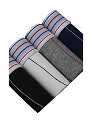 Sexy Sportif Rayé Boxers-Coton Polyester