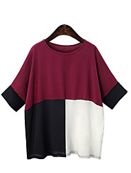Women's Casual/Daily Beach Street chic Summer Tank Top,Rainbow Round Neck Sleeveless Polyester Medium