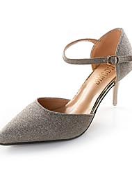Для женщин Обувь на каблуках клуб Обувь Полиуретан Весна Лето Для праздника Для вечеринки / ужина клуб Обувь Пайетки Пряжки На шпильке