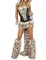 Costumes de Cosplay Costume de Soirée Animal Fête / Célébration Déguisement d'Halloween Mosaïque Robe Jambières Chapeau Halloween Féminin