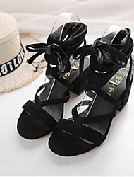 Women's Sandals Gladiator Suede Casual Chunky Heel