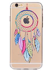 Назначение iPhone X iPhone 8 Чехлы панели Прозрачный С узором Задняя крышка Кейс для Ловец снов Мягкий Термопластик для Apple iPhone X