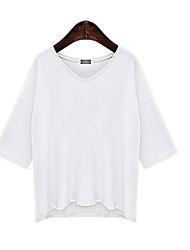 Spot 2016 Sommer neue europäische und amerikanische große Yards modale Hülse V-Neck T-Shirt Frauen