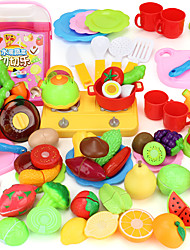 Pretend Play Toy Kitchen Sets Toy Foods Toys Leisure Hobby PVC Boys´ Girls´