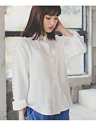 Real shot! Spot! 2017 spring new irregular short in front long-sleeved shirt blouse students