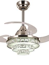 Потолочный вентилятор ,  Современный Хром Особенность for Хрусталь Светодиодная лампа С регулируемой яркостью МеталлГостиная Спальня