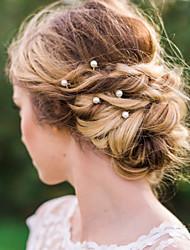 Aleación Perla Artificial Celada-Boda Ocasión especial Casual Pasador de Pelo Palillo del pelo Herramienta para el Cabello 20 Piezas