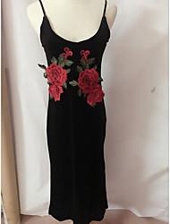 la nueva venta rápida a través de la sección de explosión del bordado vestidos sin tirantes de las mujeres de comercio exterior&# 39;