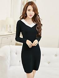 Fait vraiment la nouvelle boite de nuit de printemps 2017 boite de nuit coréenne pack sexy manches longues à manches longues