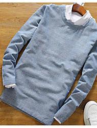 60% -p35 Rundhals Langarm T-Shirt Männer Baumwolle, Hanf und 40% japanisch