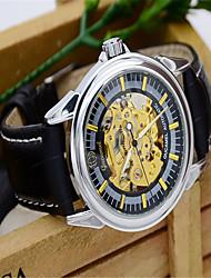 Men's Fashion Watch Quartz Leather Band Casual Black Brown