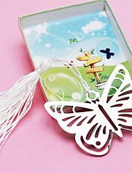Silver-Metal Butterfly Bookmark with Elegant Silk Tassel Party Souvenir
