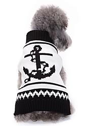 Gatos Cães Súeters Roupas para Cães Inverno Marinheiro Fofo Da Moda Casual Branco