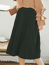 2016 spring new linen pleated skirts long section feed