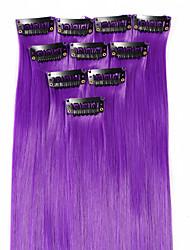 neitsi 10шт 18inch цвета изюминкой синтетические клип на наращивание волос в фиолетовый
