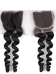 8-24 inch Middle Parting Lace Closure, Brazilian Loose Wave Closure, 100% Human Hair Lace Closures