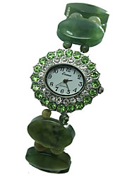 Women's Fashion Watch Quartz Jade Band Green