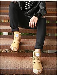 Herren-Sneaker-Lässig-Gummi-Flacher Absatz-Leuchtende Sohlen-Khaki