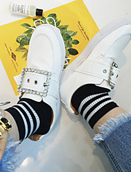 2017 primavera nova praça fivela de diamante loafers mulheres plataforma sapatos plataforma sapatos sapatos casuais sapatos brancos cinto