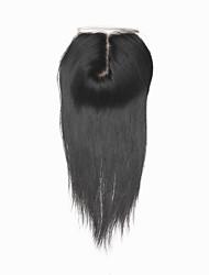 "1 YR Warranty Brazilian Virgin Human Hair Silk Closures 120% 1B 3.5""*4"" J Part Straight Silk Base Closure 10""-20"""