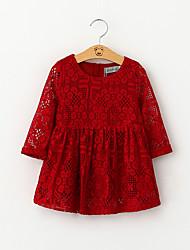 Girl's Casual/Daily Animal Print Dress,Nylon Winter Short Sleeve