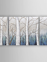 Hand-Painted  Abstract Trees Set of 3 Canvas Oil Painting With Stretcher For Home Decoration Ready to Hang