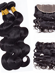 Vinsteen Body Wave Lace Frontal Closure With 3 Bundles 8A Brazilian Virgin Hair With Closure Body Wave Hair Ear To Ear 13x4 Lace Frontal With Bundles
