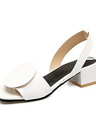 Damen-Sandalen-Büro Kleid Party & Festivität-PU-Blockabsatz Block Ferse-Fersenriemen-