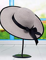Mujer Primavera Verano Otoño Todas las Temporadas Vintage Bonito Fiesta Trabajo Casual PajaBombín/Cloche Sombrero de Paja Sombrero para