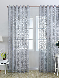 One Panel Curtain European Country Neoclassical Mediterranean Rococo Living Room Polyester Material Sheer Curtains Shades Home Decoration