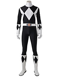 Cosplay Costumes Halloween Party Costume Masquerade Super Heroes Cosplay Movie Cosplay Red White GeometricLeotard/Onesie Gloves