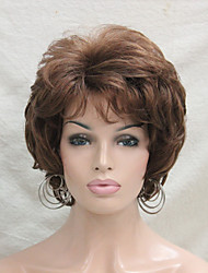 New Wavy Curly Wig Medium Auburn Short Synthetic Hair Full Women's  Wigs For Everyday