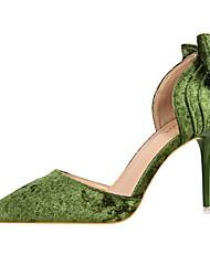 Women's Sandals Spring Summer Comfort Suede Dress Stiletto Heel Bowknot