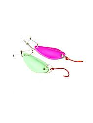 2 pçs Isco Duro Verde Rosa 5 g Onça mm polegada,Metal Pesca Geral