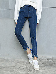 Sign Kaduo Lin Korean version of the new Slim low waist elastic denim pencil pants feet