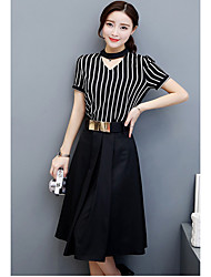 Two-piece suit female models summer fashion 2017 new wave of Korean temperament skirt with a summer dress