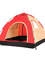 3-4 persons Tent One Room Camping Tent Well-ventilated-Camping-Red Blue Cyan