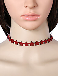 Choker Necklaces Jewelry Lace Star Euramerican Fashion Black Red Jewelry Party Special Occasion Casual 1pc