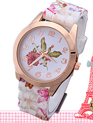 Women's Fashion Watch Quartz Leather Band Casual Multi-Colored