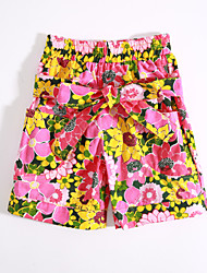 Girls' Casual/Daily Floral Pants-Cotton Summer Spring