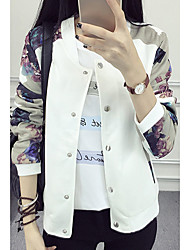 Sign spring new large size women jacket baseball uniform printing female casual jackets Spring and Autumn thin section