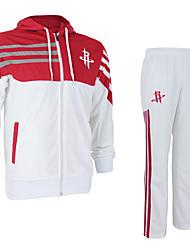 MTIGER SPORTS® Unisex Langt Erme Basketball Klessett/Dresser Bukser Pustende Bekvem Hvit Rød Hvit