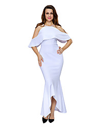 Women's Ruffled Sleeves High-low Hem Party Maxi Dress