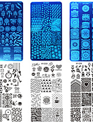 10pcs/set New Sweet Colorful Image Design Nail Stainless Steel Stamping Plate DIY Fashion Stamping Stencils Manicure Tool Nail Beauty XY-Z21-30
