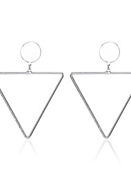 New Small Round and Triangle Pendant Dangle Earrings for Women and Girls