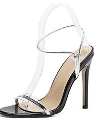 Feminino-Sandálias-Sapatos clube-Salto Agulha-Dourado Prata-Borracha-Social