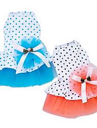 Chien Robe Vêtements pour Chien Mignon Décontracté / Quotidien Princesse Orange Bleu