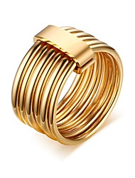 R-158 Stainless Steel Multi Rings For Women Fashion Three Tone Mix Color Wedding Rings Luxury Female Gold Plated Jewelry