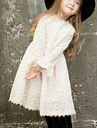 Girl's Casual/Daily Solid Dress,Polyester Spring Fall Long Sleeve