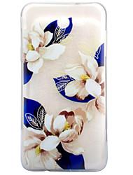 Pour Transparente Motif Coque Coque Arrière Coque Fleur Flexible PUT pour Samsung J7 (2017) J5 (2017) J3 (2017)